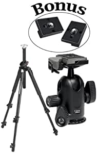 Manfrotto 190XPROB Tripod with 498RC2 Head and 2 QR Replacement Plates