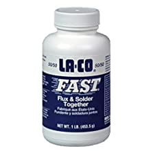 LA-CO Fast 50/50 Premium Grade Flux and Solder Combination, 1 lbs