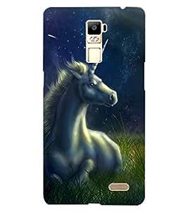 ColourCraft Fantasical Horse Design Back Case Cover for OPPO R7