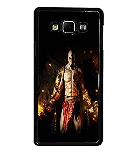 PrintDhaba Warrior D-2123 Back Case Cover for SAMSUNG GALAXY A8 (Multi-Coloured)