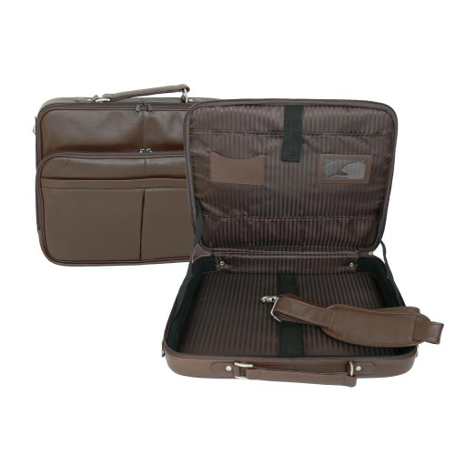 17-Inch Leather Laptop Briefcase