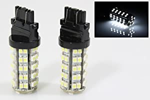 2X 3157 White 68 SMD LED Parking Front Turn Signal Daytime Lamp DRL Light Bulbs