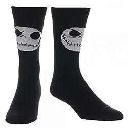 The Nightmare Before Christmas Jack Skellington Mens' Crew Sock (1)