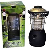 Uni Com Wind Up Lantern - Large Black Rubber