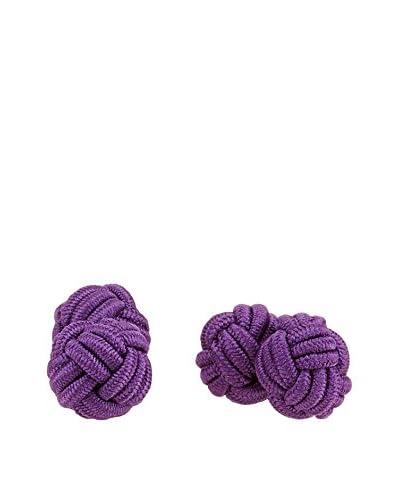 Ortiz & Reed Manschettenknopf Multi-Color Knots Cufflinks lila