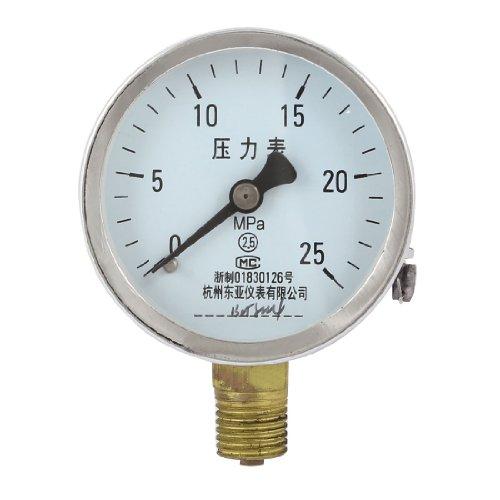 Round Case Connector Arabic Number Air Pressure Gauge 0-25 Mpa Range front-42042