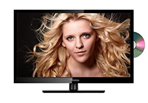 oCOSMO 32-Inch 720p 60Hz LED HDTV with Built-in DVD Player (Glossy Black) by oCOSMO