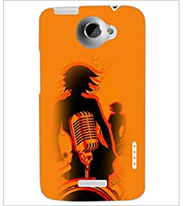 PrintDhaba Music D-4956 Back Case Cover for HTC ONE X (Multi-Coloured)