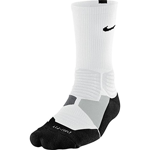 Nike Hyperelite Basketball Crew Dri-Fit Men Socks White/Black SX4801-101 (SIZE: S) (Customized Nike Elites compare prices)
