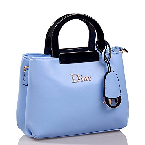 Desklets Women's Vintage Bear Decorate Sling Tote Bags Cross Body Handbag(Blue)