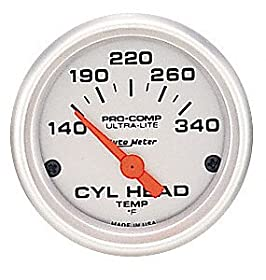 Auto Meter 4336 Ultra-Lite Electric Cylinder Head Temperature Gauge