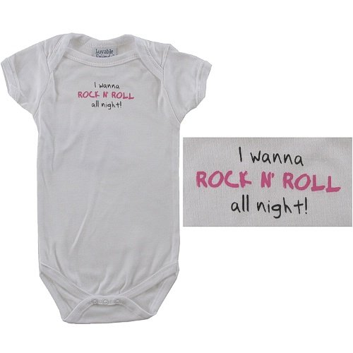 Baby-Says Bodysuit, I wanna Rock N' Roll all night! - Buy Baby-Says Bodysuit, I wanna Rock N' Roll all night! - Purchase Baby-Says Bodysuit, I wanna Rock N' Roll all night! (Luvable Friends, Luvable Friends Apparel, Luvable Friends Toddler Boys Apparel, Apparel, Departments, Kids & Baby, Infants & Toddlers, Boys, One-Pieces & Rompers)