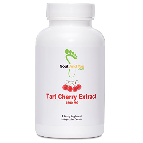 Tart Cherry Extract By GoutandYou - 1500mg - High Potency - 90 Veg Capsules (Extracts Cherry compare prices)