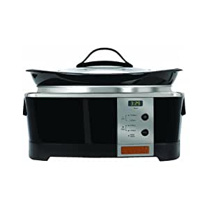 Crock-Pot SCCPQP600-B 6-Quart Smart-Pot Squond Slow Cooker, Black