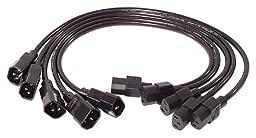 APC AP9890 0.6m C13 to C14 Power Cord Kit - 5 Pack