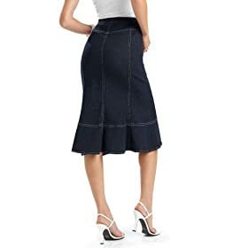 Jean-Front Stretch Skirt