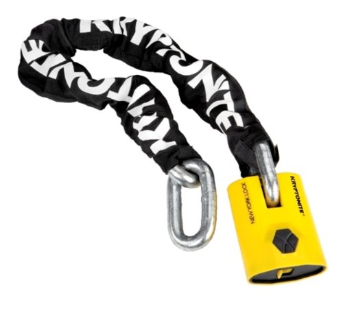 Kryptonite New York Legend 1590 Chain Bicycle Lock with New York Padlock Chain Bicycle Lock (3 Foot Long Chain)