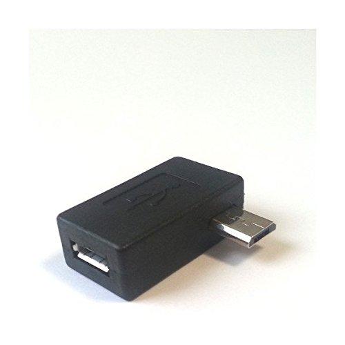 Micro usb angled adapter ab female b male degrees