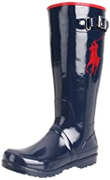 Polo by Ralph Lauren Ralph Rain Boot (Toddler/Little Kid/Big Kid),Navy/Red,4 M US Toddler