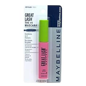 Maybelline Great Lash Mascara, Very Black (6 Mascaras)
