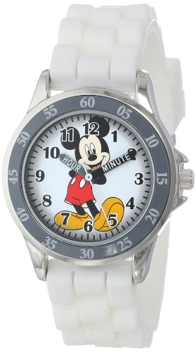 Disney Kids ' MK1240 Watch with White Rubber Band Mickey Mouse kids watch [parallel import goods]