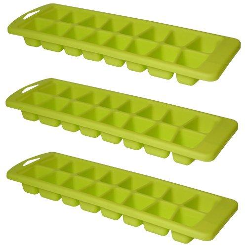 Lot 3 Bacs à 16 Glaçons Plastique So Fresh Vert