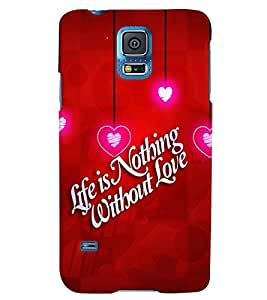 Fuson 3D Printed Love Quote Designer back case cover for Samsung Galaxy S5 Neo - D4355