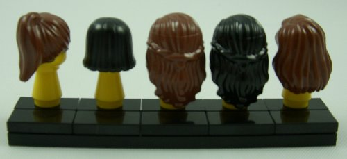 LEGO Minifigure Minifig Hair Pack of 5 - Female Hair Pieces