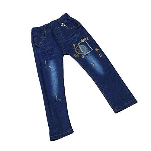 Zier Bambini Lungo Del Denim Dei Jeans Mutanda Casuale Pull Up Elastico Regolabile 33857