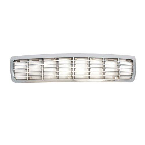 CarPartsDepot 400-15729, Grill Grille Chrome Plated Plastic Painted Silver Insert W/O Ltz GM1200113 10220509 (92 Chevy Caprice Grill compare prices)