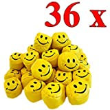 36er Pack Jonglierbälle Smiley