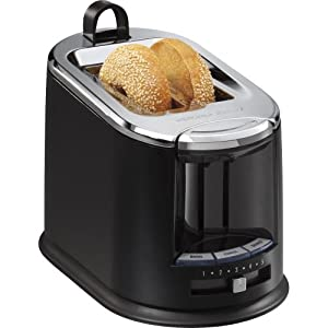 Buy Hamilton Beach SmartToast Extra-Wide Slot 2 Slice Toaster with Tongs by Hamilton Beach