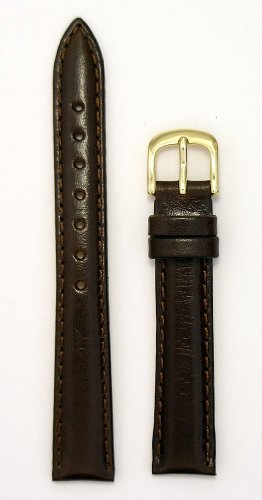 Ladies' Genuine Italian Leather Watchband, Color Brown, Size 12mm, Watchband