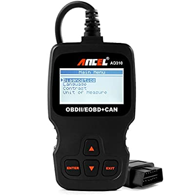 Ancel AD310 Classic Enhanced Universal OBD II Scanner Car Engine Fault Code Reader CAN Diagnostic Scan Tool, Read and Clear Error Codes for 1996 or Newer OBD2 Protocol Vehicle