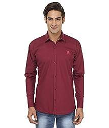 FOCIL Mahroon Casual Wear Shirt