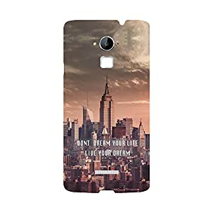 Skintice Designer Back Cover with direct 3D sublimation printing for Coolpad note 3