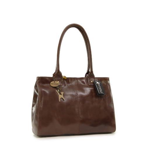 Catwalk Collection Large Shoulder Tote - Kensington - Vintage Leather