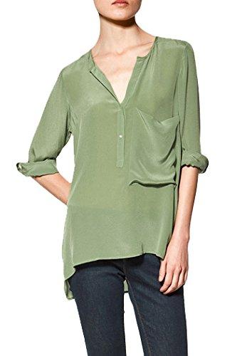 Amazon.co.jp: (アールポート) R-port レディース ビッグ ポケット ロールスリーブ シャツ: 服&ファッション小物通販
