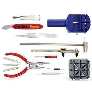(24-020) ***Kit de Réparation Horloger 16 Pièces Ouvrir, Démonter, Changer les piles facilement de vos montres et horloges***