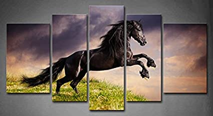Friesian Horse Wall Panels