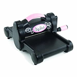 Sizzix 655268 Big Shot Cutting-and-Embossing Roller-Style Machine with Standard Multipurpose Platform, Black & Pink