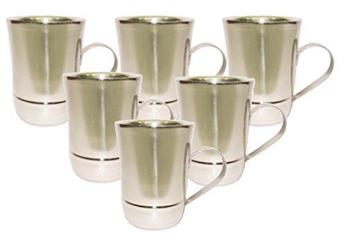 KIng International Stainless Steel Coffee Mug / Tea Mug Set Of 6pcs