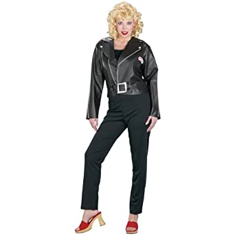 Fun World Womens 'Grease Cool Sandy' Halloween Costume, Black, S