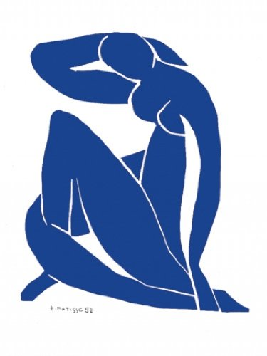 "Kunstdruck, Poster ""Nu bleu II"""