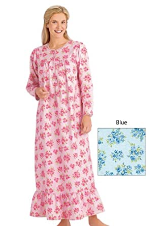Flannel Nightgown - Women's Sizes, Color Blue, Size 5XP