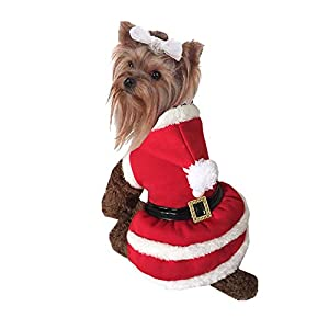 Hemiks 2016 New Arrival Elf Pet Dog Cat Christmas Xmas Costume Santa Winter Clothes Puppy Doggy Hoodie Coat Dress New Year Gift (Christmas Santa, S)