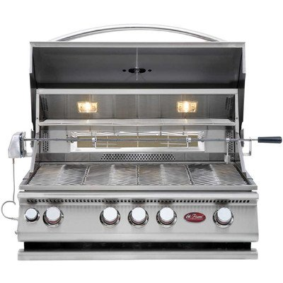 Built-In 4-Burner Convection Grill With Rotisserie