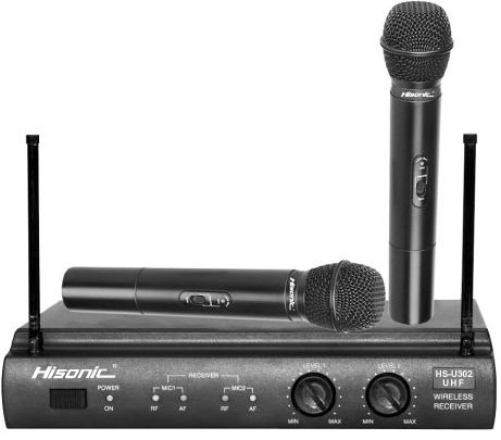 Hisonic Uhf Dual Wireless Microphone System, Hsu302H