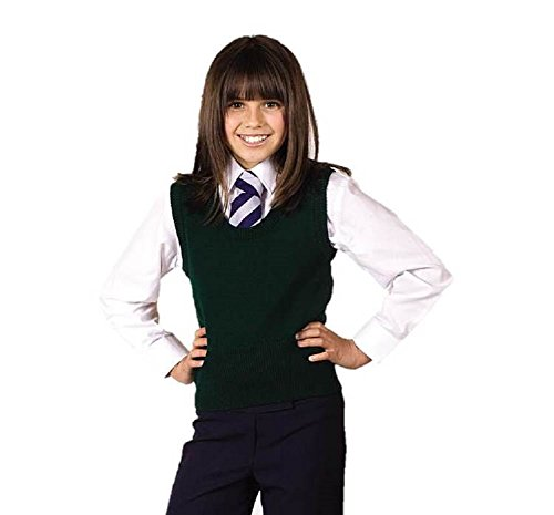 Schoolwear Mädchen U-Ausschnitt Pullunder Wollmischung ärmellos - 13 Jahre, Rot