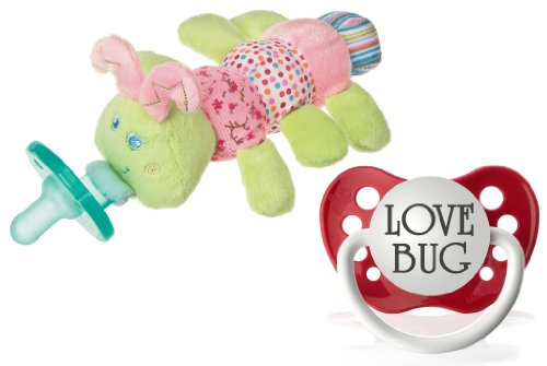 "Wubbanub Cutsie Caterpillar Infant Pacifier With Bonus ""Love Bug"" Pacifier"